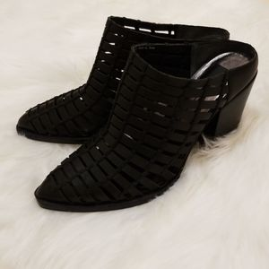 Dolce Vita black leather caged mules size 8